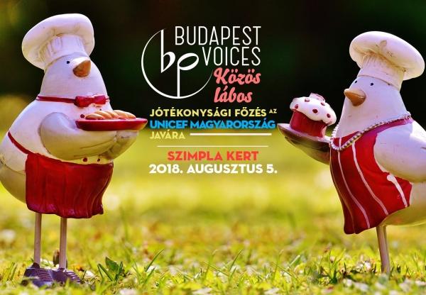 Budapest Voices: jótékonysági főzés az Unicef javára