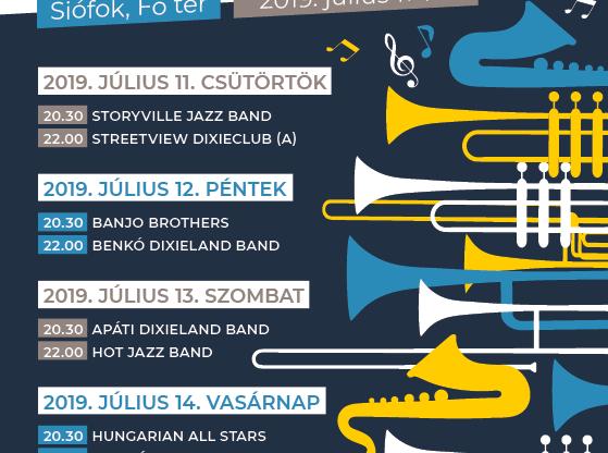A new orleans-i jazz Siófokon