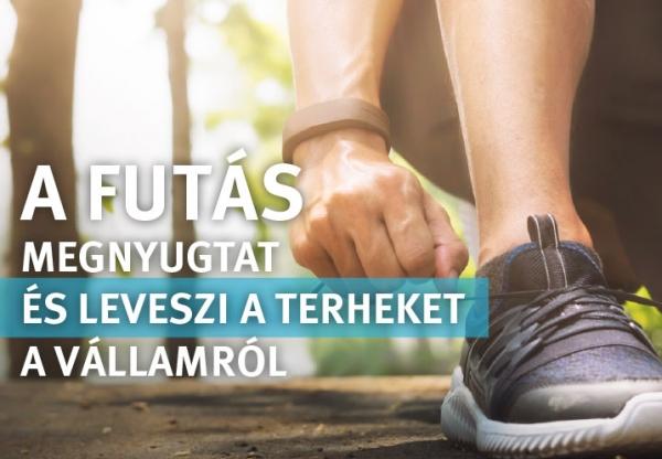 A futás megnyugtat és leveszi a terheket a vállamról