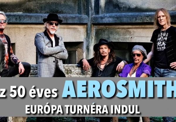 Az 50 éves AEROSMITH Európai turnéra indul