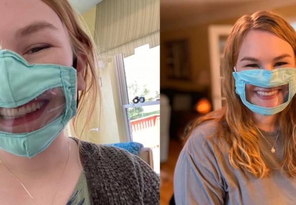 Különleges maszkokat készít siketeknek és hallássérülteknek az egyetemista lány