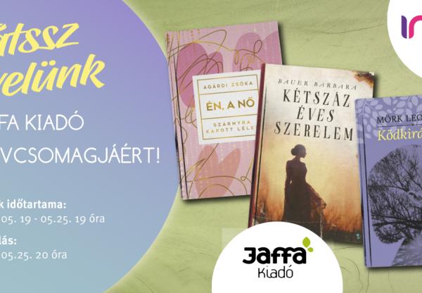 Gyere és játssz velünk a Jaffa Kiadó könyvcsomagjáért!