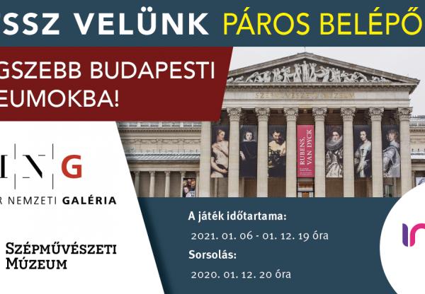 Játék a páros belépőért Budapest két legszebb múzeumába