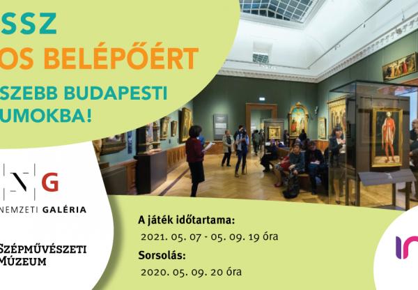Játék! Nyerj múzeumi páros belépőt Budapest legszebb múzeumaiba!
