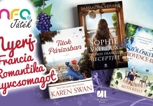 Nyerj Francia romantika – könyvcsomagot!